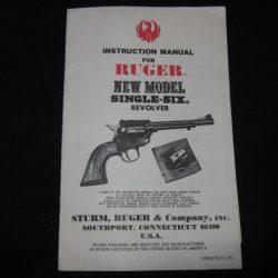 Ruger Single Six manuel